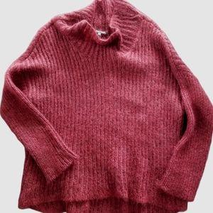 Eileen Fisher Mohair blend high low sweater